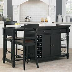 Home Styles Grand Torino Black Kitchen Island With Seating