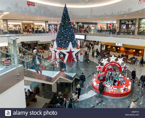 christmas shop manchester tree on halle square in the arndale shopping centre in stock photo royalty free image