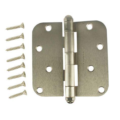 everbilt 4 in satin nickel 5 8 in radius adjustable door
