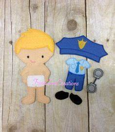 felt dress up doll template - police officer paper doll google search tutor stuff