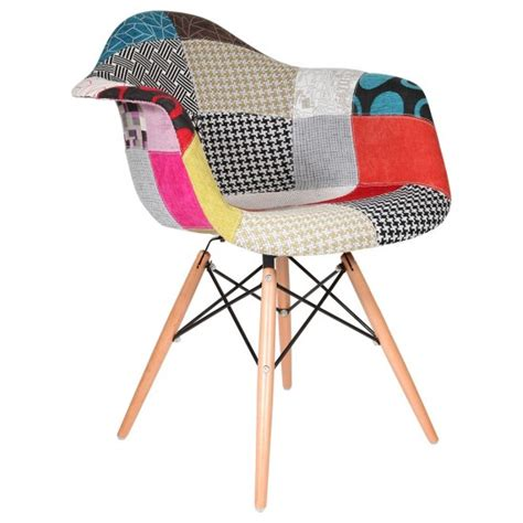 chaise eames patchwork eames daw chair special patchwork upholstery