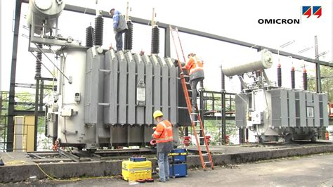 Power Transformer Testing Automatically Measuring Ratio