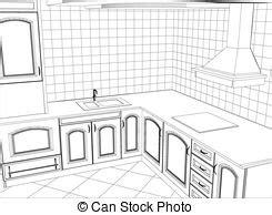 cr馥r cuisine 3d croquis créé résumé kitchen conception illustration vecteurs eps rechercher des clip des illustrations des dessins et des