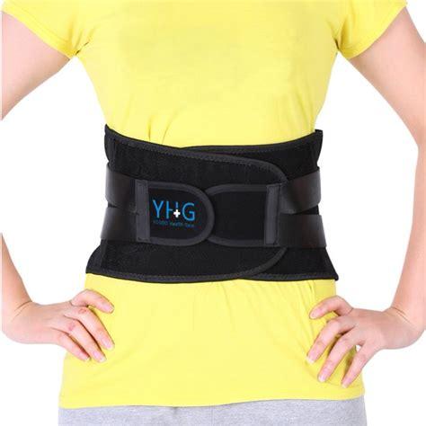 Greensen Adjustable Lumbar Support Belt Lower Back Brace ...