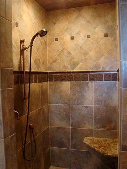 Shower Doorless Bathroom Tile Showers Bathrooms Walk