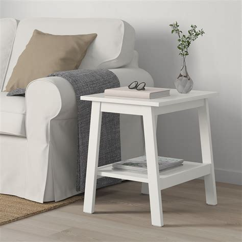 """4.6 out of 5 stars 747. LUNNARP Side table, white, 21 5/8x17 3/4"""" - IKEA in 2020   White side tables, Living room table ..."""