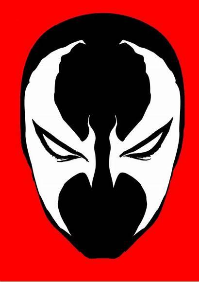 Stencil Clipart Spawn Template Templates Face Venom