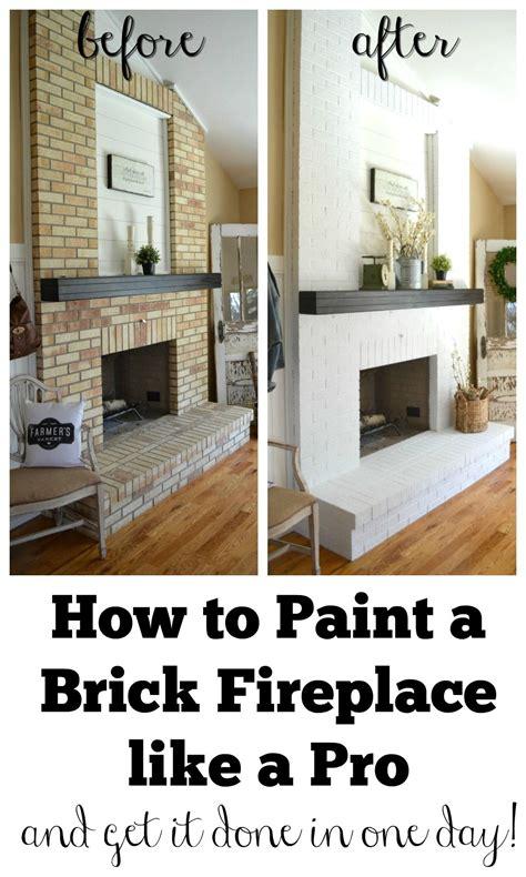 paint  brick fireplace brick fireplace makeover