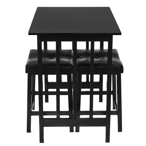 pub table and two chairs kitchen 3pcs modern counter height dining set table and 2
