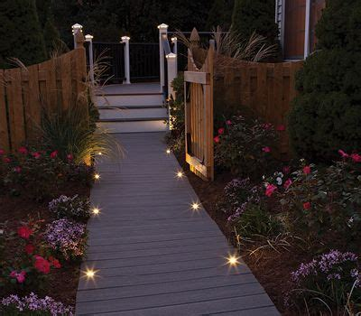 deck lighting post lights led step stair lights trex