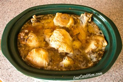 chicken thigh crock pot recipes crock pot chicken thighs and drumsticks low carb yum