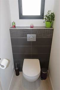 epingle par aurelie tahon sur deco maison pinterest wc With quelle couleur pour les toilettes 5 carrelage toilette murale