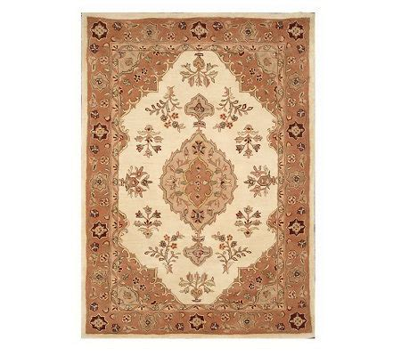 royal palace rugs royal palace grand 5 x 7 handmade wool rug qvc