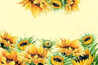 Watercolor Sunflowers Clipart Sunflower Clip Background Illustration