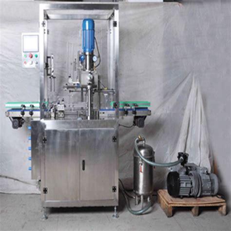 vacuum cans sealing machine  nitrogen gas flushing infilling funtion milk powder cans tins