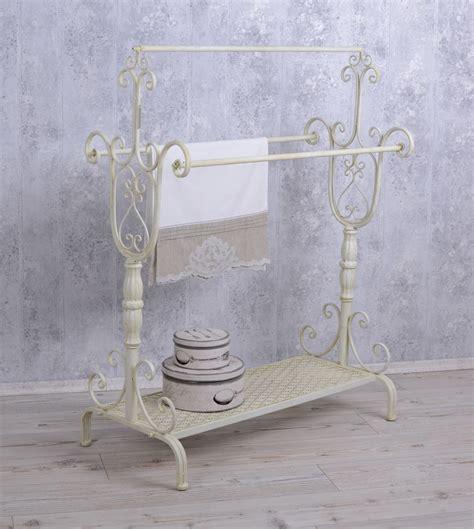 shabby chic towel rack handtowel stand shabby chic towel rail white standing towel rack ebay
