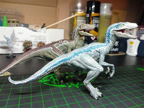 I Painted A Raptor Figure To Look Like Blue Today Howd I