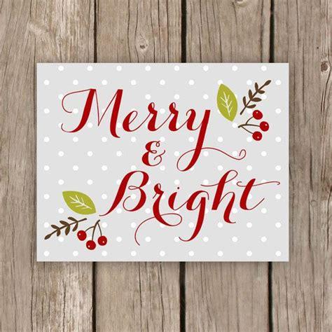 merry  bright christmas decor printable art