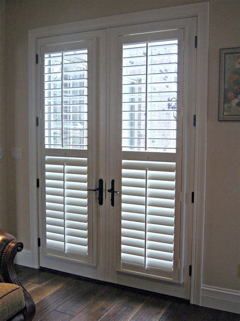 Patio Door Blinds by Interior Simple White Venetian Blinds On Bi Fold Glass