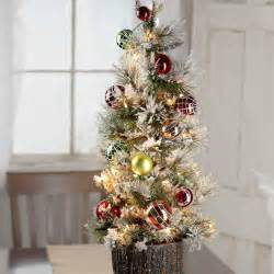decorated pre lit tabletop artificial christmas tree christmas trees and toppers christmas