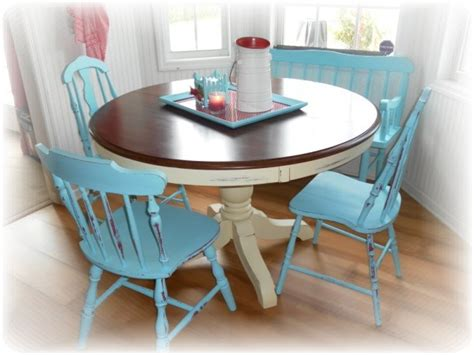 red  turquoise country kitchen diy