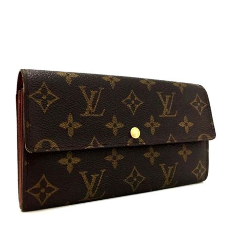signature lv monogram portefeiulle sarah long bifold wallet  tradesy