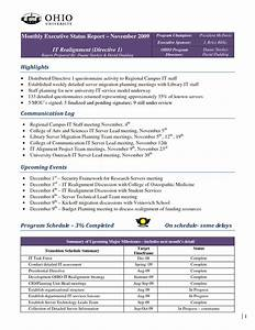 best photos of executive weekly report template With executive summary project status report template