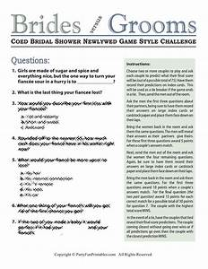 coed bridal shower newlywed game With wedding shower newlywed game questions