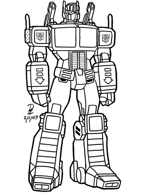 Transformers 89 Superheroes Printable Coloring Pages