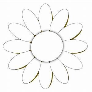 line art drawings of flowers | daisy flower 1 black white ...