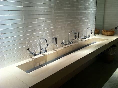 Commercial Bathroom Design by Concreteworks Trough Sink For Commercial Restroom