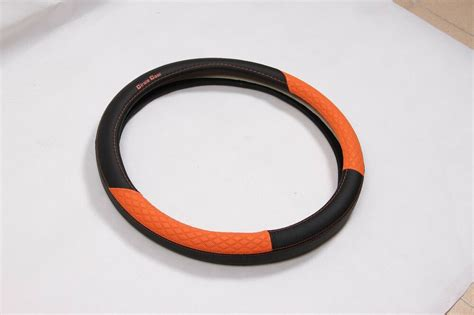 black and orange steering wheel cover black orange pvc leather car steering wheel cover audi