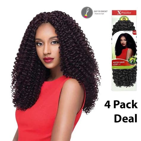 braiding styles for hair outre x pression crochet braid water wave loop 14 quot 4 1815