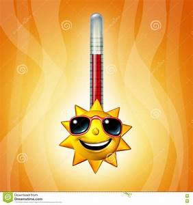 Hot Sun Thermometer Temperature Stock Illustration ...