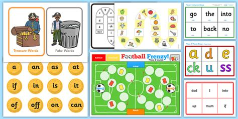 Phase 2 Phonics Games Activity Pack  Letters And Sounds, Phase