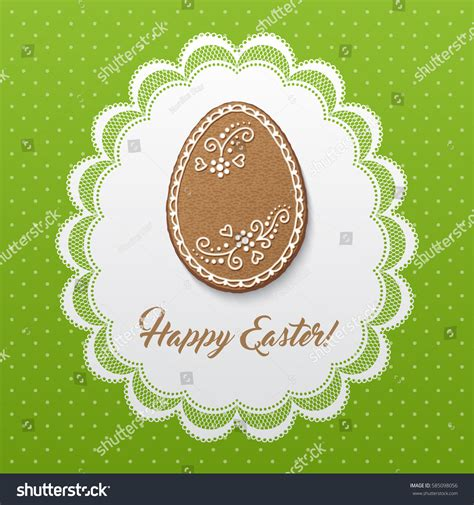 happy easter greeting card polka dot stock vector