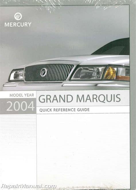 car manuals free online 2004 mercury grand marquis lane departure warning 2004 mercury grand marquis owners manual