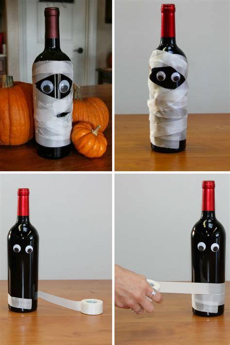 diy wine bottle diy mummy wine bottle crafts for halloween