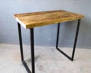 Table Haute Bois Metal : table de bar bois et metal ~ Teatrodelosmanantiales.com Idées de Décoration