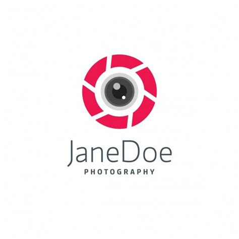 modern photography logo template vector free download