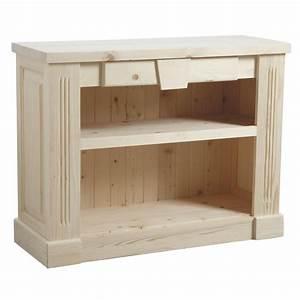 Meuble Tv Bois Brut : meuble en pin brut peindre nouveau look pour table en pin with meuble en pin brut peindre ~ Teatrodelosmanantiales.com Idées de Décoration