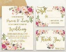 Floral Wedding Invitation Printable Wedding Invitation Suite Boho Chic Wedding Verses Wedding Favors Wedding Gifts And Wedding Accessories Decorations For Wedding In Trinidad Wedding Celebration Blog Trinidad Wedding Menu Ideas Party Invitations Ideas