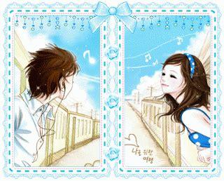 anime couple bagus korean couple cartoon shinrise land