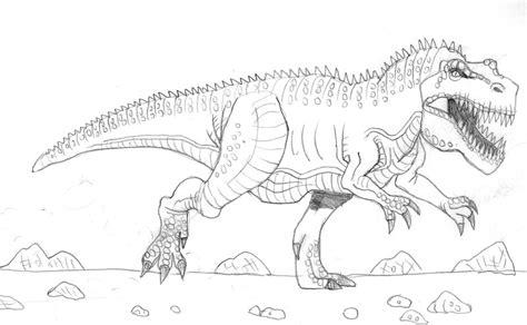 Allosaurus Kleurplaat by Giganotosaurus Coloring Pages