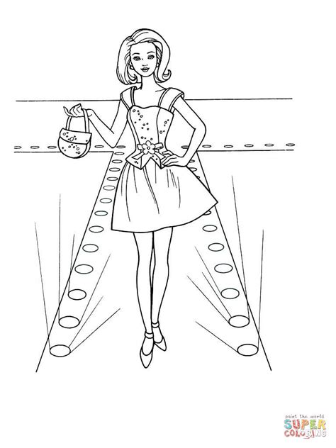 printable coloring pages  fashion clothing coloring home