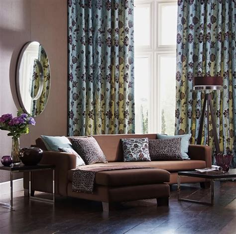 what colour curtains go with brown sofa 53 living rooms with curtains and drapes eclectic variety
