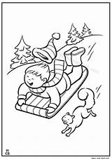 Coloring Sled Printable Winter Pages Toboggan Snow Sledding Getcolorings Kid sketch template