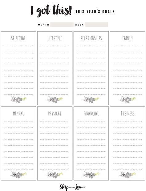 free goal setting worksheets skip to my lou