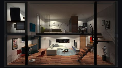 Good Minecraft Living Room Ideas by Loft Apartment 0 Hd Night By Richert On Deviantart
