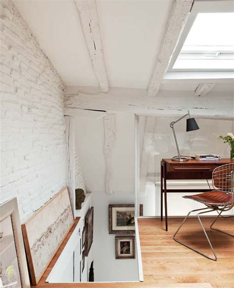 small house with attic attic apartments with small office room located in spain
